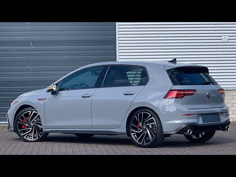 Volkswagen NEW Golf 8 GTI 2021 in 4K Moonstone Grey 19 inch Adelaide Walk around & detail inside
