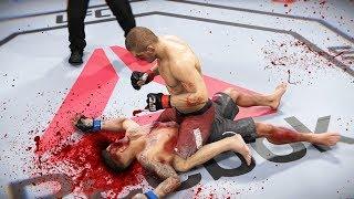 КРОВАВЫЙ ЖЕСТКАЧ  в МИРОВОМ РЕЙТИНГЕ ТОП 5 UFC 3 НОКАУТЫ