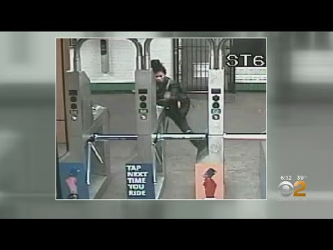 Woman destroys OMNY Readers at IND 145th Street Station.