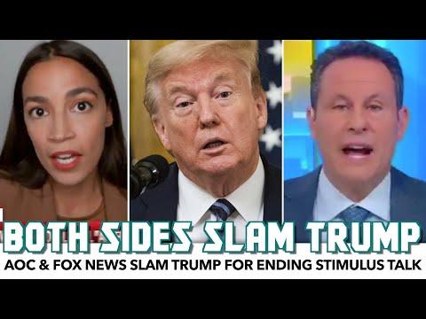 AOC & Fox News Slam Trump For Shutting Down Stimulus Talks