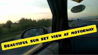 preview picture of video 'Beautiful sunset view at motorway.'