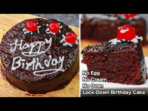 Lock-Down Birthday Cake | Eggless & Without Oven | Yummy