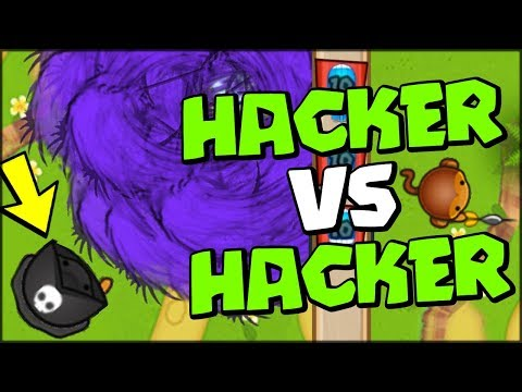HACKER VS HACKER :: 10x HYPERSONIC DARK MONKEY VS WIZARD HACKER! - Bloons TD Battles