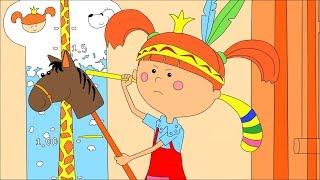 Раскраска с Царевной 🎨 Сборник! Учим цвета - Развивающие, обучающие мультики для детей