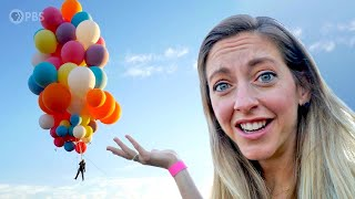 I WAS THERE! How David Blaine flew helium balloons to the height of jets (and jumped)