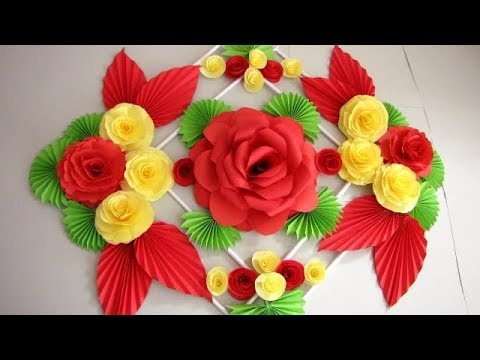 DIY. Simple Home Decor. Wall Decoration. Hanging Flower. Paper Craft Ideas #21