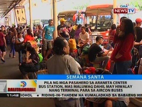 BT: Pila ng mga pasahero sa Araneta Center bus station, mas maluwag
