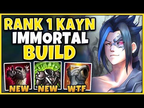 *NEW* JUNGLE KAYN UNKILLABLE TANK BUILD (NEVER DIE) - League of Legends