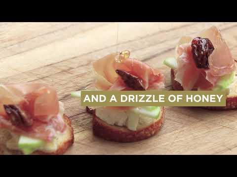 Prosciutto di Parma Apple & Brie Crostini