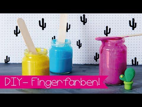 DIY | FINGERFARBE I BASTELN MIT KINDERN