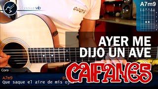 "Cómo Tocar ""Ayer Me Dijo Un Ave"" De Caifanes En Guitarra Acústica (HD) Tutorial - Christianvib"