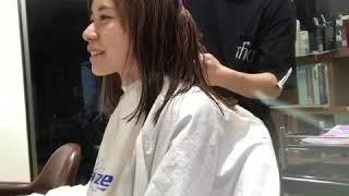 スタッフの営業後。木村さんの髪をカットしました♪