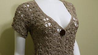 Bolero Crochet Fácil Crochet Con Un Botón