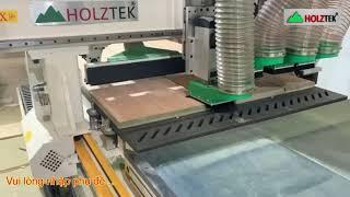 MÁY ROUTER CNC 4 Đầu Nesting khoan cắt ván sản xuất hàng nội thất chuyen nghiệp