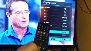 MEDION LIFE P15236 MD 21444 69,9 cm (27,5 Zoll HD) Fernseher anschließen und einrichten Anleitung
