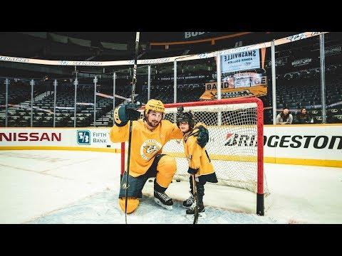 Nashville Predators sign Make a Wish Kid Asher Collier | Day 1