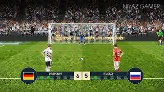 GERMANY vs RUSSIA | Penalty Shootout | ГЕРМАНИЯ - РОССИЯ | PES 2019 Gameplay PC