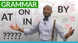 English Grammar: The Prepositions ON, AT, IN, BY | Kholo.pk
