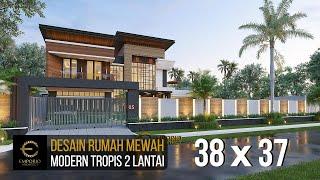 Video Desain Rumah Modern 2 Lantai Bapak Eruwin di  Tanjung Pinang, Kepulauan Riau
