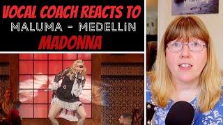 Vocal Coach Reacts To Madonna 'Maluma   Medellín' Billboard Music Awards Performance