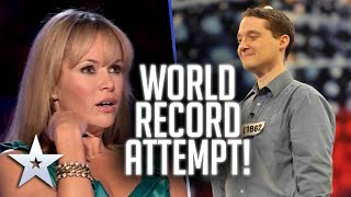 Contestant attempts chocolate eating GUINNESS WORLD RECORD! | Britain's Got Talent
