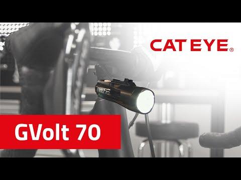 Cateye GVolt 70 Fahrradbeleuchtung | Schlanke Optik, aufgeräumtes Cockpit, leuchtstark