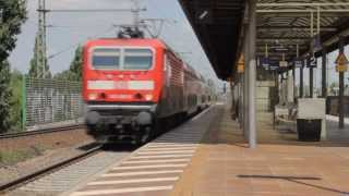 preview picture of video 'Züge in Leipzig Messe - Trainspotting 2013'