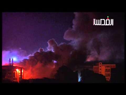 فيديو:قصف الجامعة الاسلامية