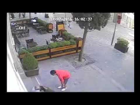 Telecamera di sicurezza filma una scena sconvolgente! Fate bene attenzione!