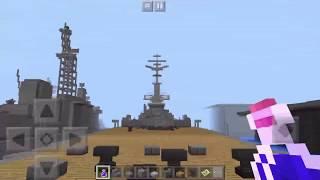 minecraftPE日本海軍天城型巡洋戦艦一番艦巡洋戦艦「天城」の紹介です!