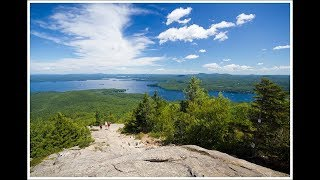 Hiking to the summit of Mount Major in New Hampshire