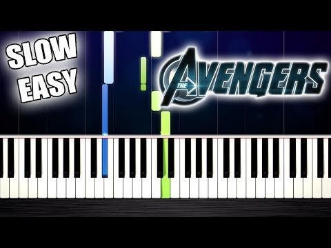 The Avengers - Theme Song - SLOW EASY Piano Tutorial by PlutaX