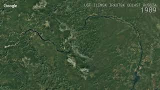 Google Timelapse  Ust Ilimsk Irkutsk Oblast, Russia