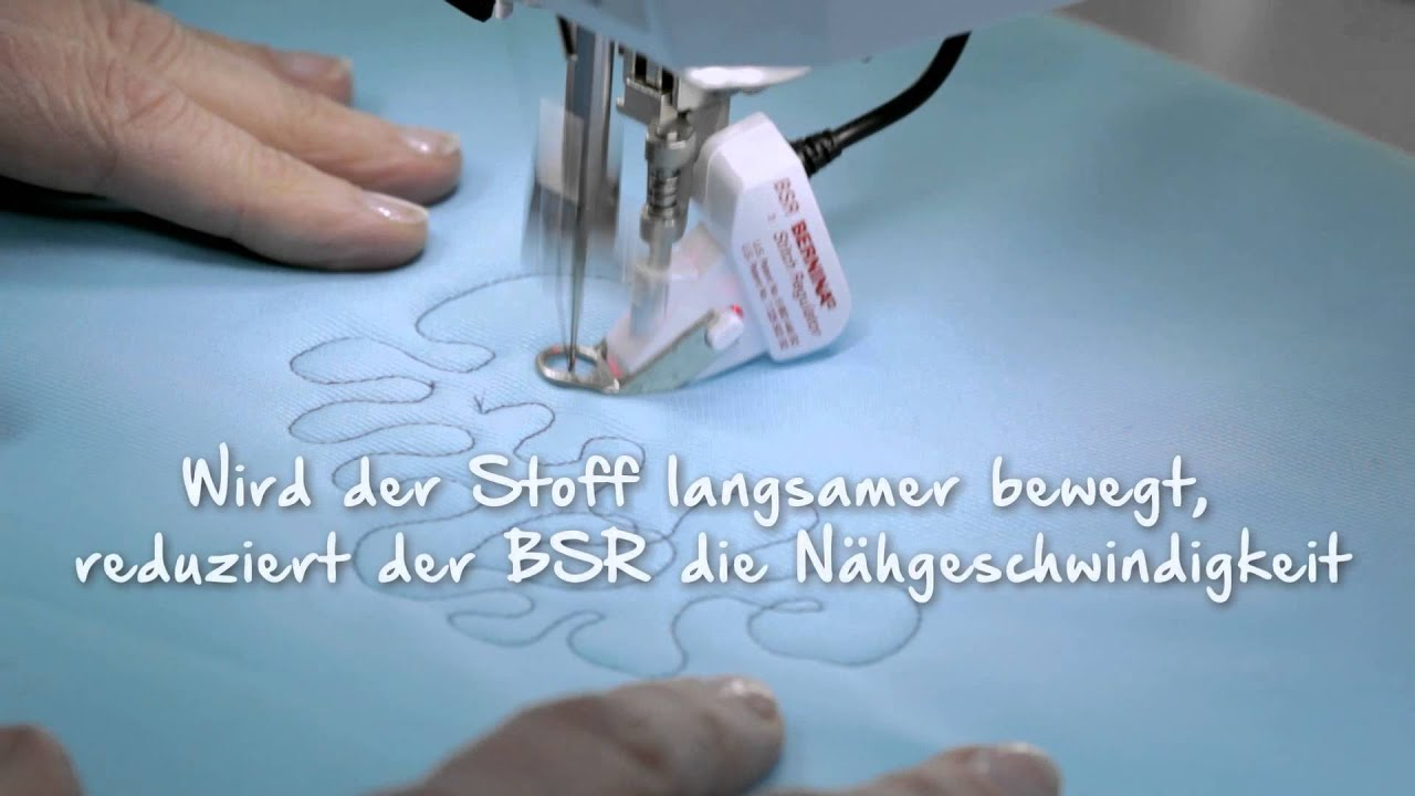 BERNINA 790 PLUS: Nähen mit dem BERNINA Stichregulator (BSR)