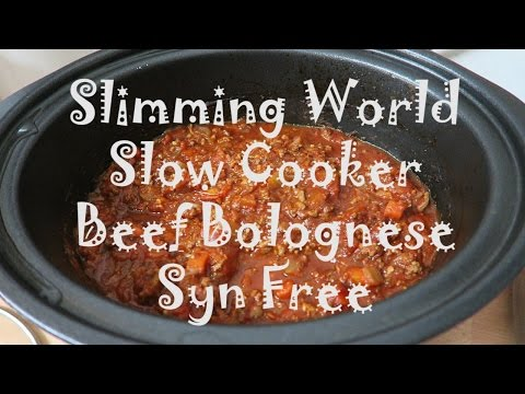 Slimming World Slow Cooker Beef Bolognese SYN FREE