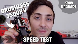 FPV CAR - WLtoys K989 / Brushless kit speed test // Tutorial фото