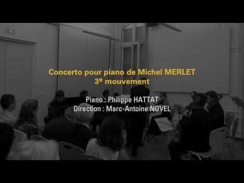 Concerto pour piano de Michel Merlet (extraits 9/9/2016)