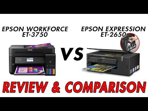 EPSON EcoTank ET 3750 vs EPSON EcoTank ET 2650 – Review & Comparison