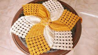 #كروشيه مفرش نجمي سهل للمبتدئات /   Crochet Doily Very Easy