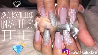 Acrylic Nails Tutorial | Purple Coffin Nails