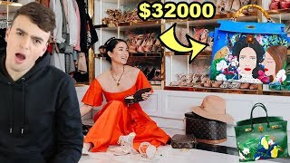 Reacting to a REAL Crazy Rich Asians' Closet (and why heart evangelista paints on $30,000 handbags)