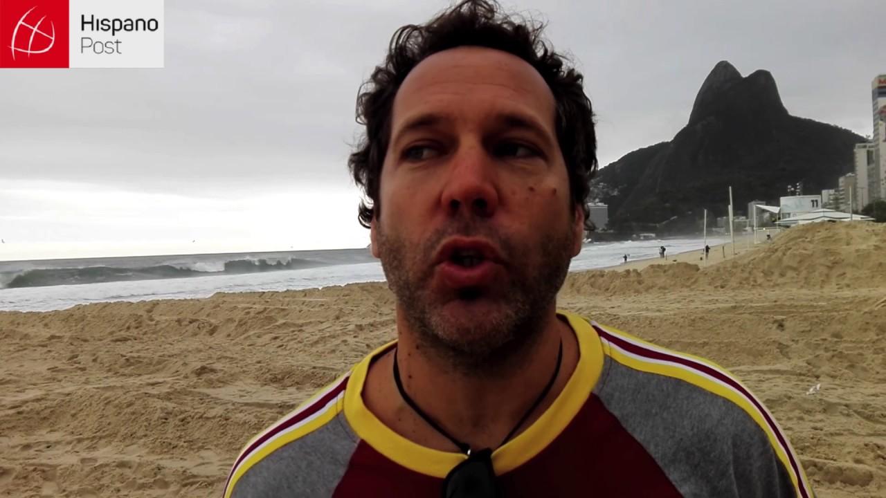Resaca afecta parte del paseo marítimo de Río de Janeiro