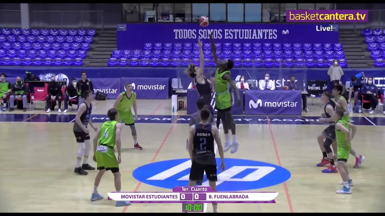 EBA - MOVISTAR ESTUDIANTES vs B. FUENLABRADA.- Liga EBA (17/03/21) #BasketCantera.TV