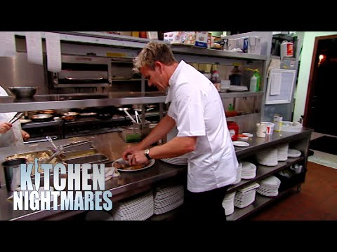 Gordon Ramsay Calls Out EVERY Mistake The Chef Is Making | Kitchen Nightmares
