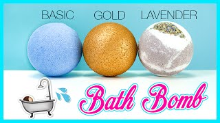 How to make a Bath Bomb with only 3 Ingredients! & Two-toned and Golden Bath Bomb!