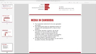 Now live: webinar on doing PR in Cambodia