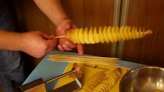 Ручной чипсорез для спиральной картошки новый от компании Potato$Tornado - видео