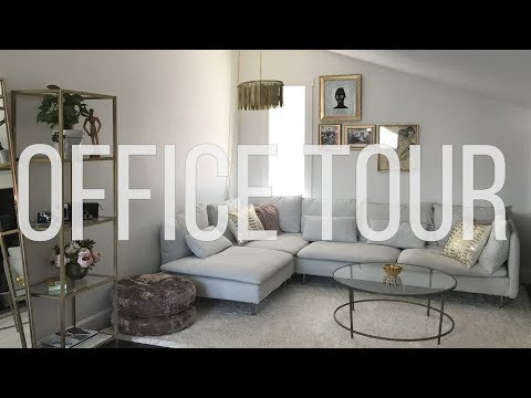Office and Studio Tour   DIY Home Decorating Ideas   Vlog