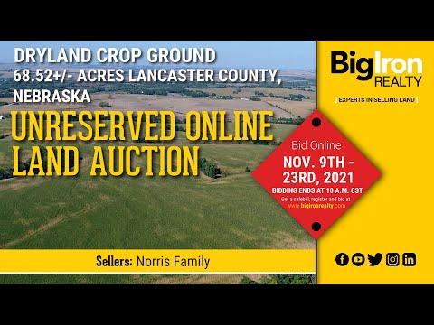 Land Auction 68.52+/- Acres Lancaster County, NE