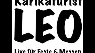 Caricaturista LEONARDO da vinci jr. Caricaturiste Karikaturist Schnellzeichner video preview